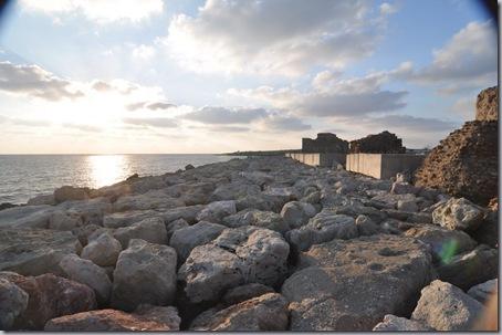 закат и крепость